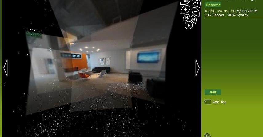 微软live实验室演示photosynth室内3d效果