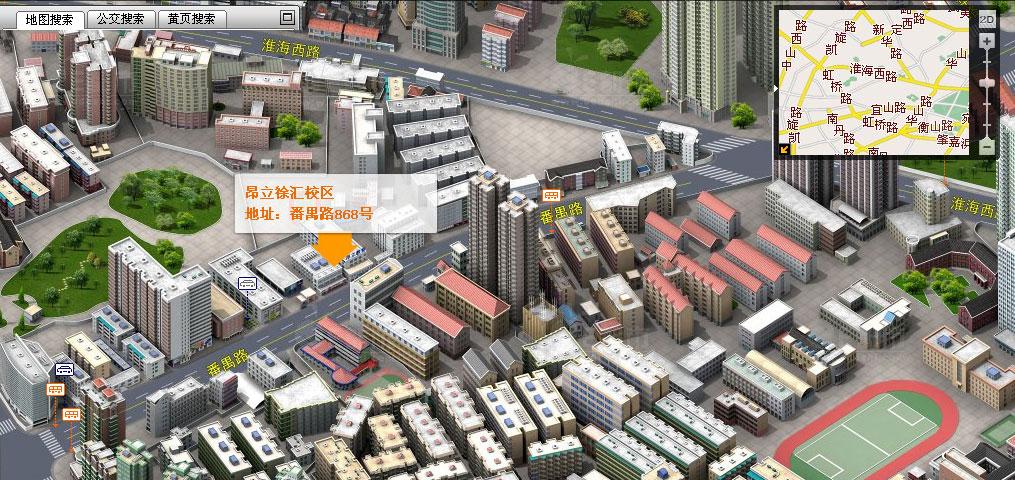 谷歌地图高清三维图; 上海徐汇区地图全图图片分享